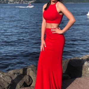Dresses & Skirts - red long prom dress